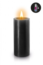 Bougie basse température noire : Bougie noire spéciale pour vos scénarios BDSM. Elle fond à basse température pour éviter les brulures.