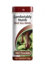 Bonbons pour fellation - menthe chocolat : Petits bonbons désensibilisants arôme menthe chocolat formulés pour pratiquer agréablement une fellation.