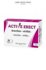 Active Erect - Activateur érection  (30 comprimés) : Complément alimentaire à base de plantes et de vitamines qui améliore érection et virilité. A consommer 1 heure avant l'acte.
