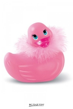 I rub my Duckie Paris - rose : La star des canards vibrants en version Strass et paillettes coloris rose et taille classique.