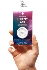 Baume clitoridien parfum Bois de sental : Horny Jar est un baume parfumé au bois de sental pour le clitoris imaginé par Bijoux Indiscrets.