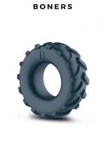 Anneau de pénis pneu - Boners : Un cock ring confortable en forme de pneu de 4x4 pour améliorer votre érection et qu'elle dure plus longtemps.