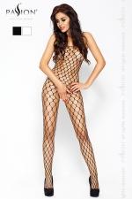 Combinaison filet Passion : Combinaison filet à larges mailles, avec ouverture intime à l'entre-jambes.