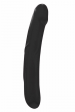 Godemichet Real Sensation L noir - Dorcel : Très beau gode noir de taille généreuse, réversible, 100% silicone, idéal pour transformer vos fantasmes en orgasme.