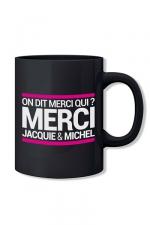 Mug noir Jacquie et Michel : Le mug officiel du site Jacquie et Michel, modèle noir.