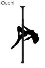 Barre de Pole Dance - Noir : Devenez la reine du strip-tease érotique avec la barre de Pole Dance noire par Ouch!.