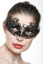 Masque vénitien Queen 6 : Masque vénitien fantaisie en métal incrusté de strass, un bijou mystérieux.