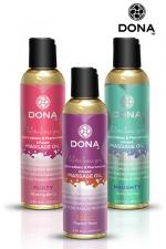 Huile de massage parfumée - Dona : Huile de massage aphrodisiaque à base de phéromones, parfumée, non grasse et haute qualité, par Dona.