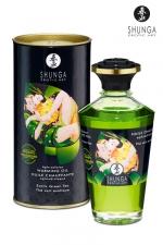 Huile chauffante aphrodisiaque Thé Vert  : Huile aphrodisiaque comestible Bio, activée par la chaleur de la peau ou les baisers, by Shunga.