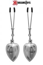 Pinces et poids aluminium 50g : Paire de pinces avec poids en aluminium brillant et poli, environ 50 g par poids, marque XXX-Dreamtoys.