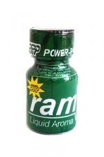 Poppers Ram 9 ml : Le célèbre poppers Ram et son flacon vert! Un poppers puissant et pur à base d'isopropyle.