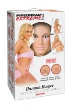 Poupée gonflable Hannah Harper : Une poupée de la collection Pipedream Extreme Dollz, les poupées réalistes à taille humaine.