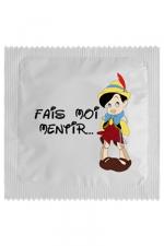 Préservatif humour - Fais Moi Mentir : Préservatif  Fais Moi Mentir, un préservatif personnalisé humoristique de qualité, fabriqué en France, marque Callvin.