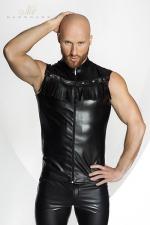 Vest STRONGER Rawhide : Veste sans manches en faux cuir, décorée de franges dans le plus pur style Cowboy. HiHa !